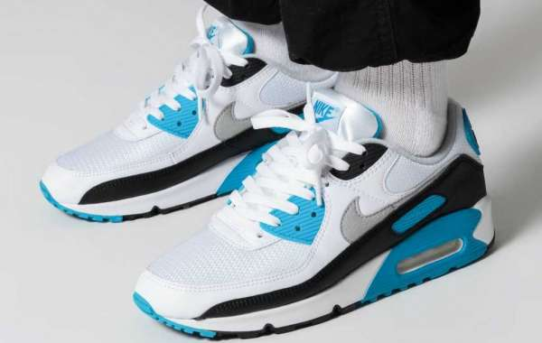 "Brand New Nike Air Max 90 ""Laser Blue"" CJ6779-100 Classic Basketball Shoes to release on  October 2nd"