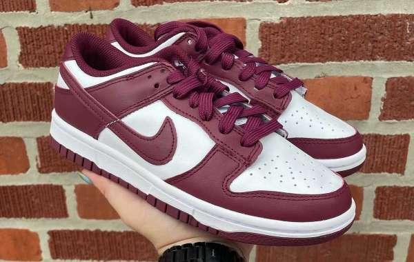 "Latest 2021 Nike Dunk Low ""Bordeaux"" Skateboard Shoes"